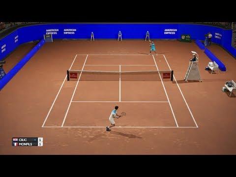 AO Tennis - Marin Cilic vs Gael Monfils - Rio Open - PS4 Gameplay