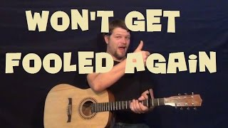 Won t Get Fooled Again Easy Guitar Lesson How to Play Tutorial