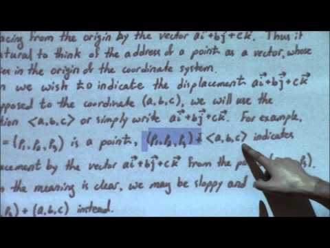 Multivariate Calculus (Lecture 1): Vector Algebra and Coordinate Frames
