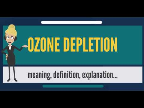 What is OZONE DEPLETION? What does OZONE DEPLETION mean? OZONE DEPLETION meaning & explanation