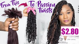😱SHE BROKE THE CODE!!! DIY $2.80 PASSION TWISTS with Straight Kanekalon hair!!!