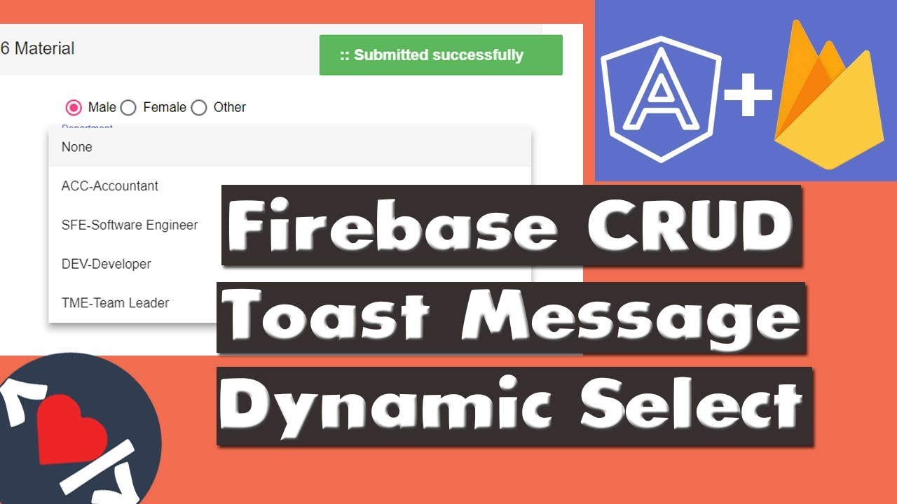 Angular Material – Firebase CRUD Operations | Coding Videos