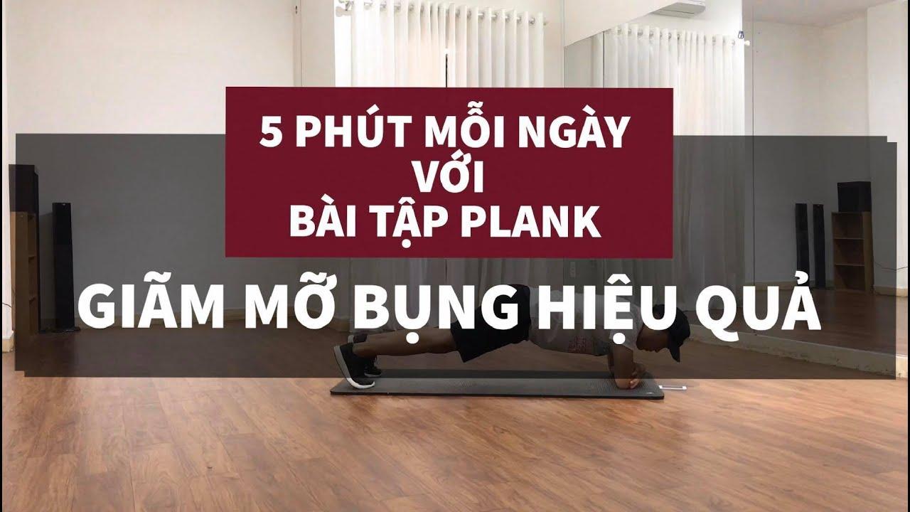 5 Phút với Bài Tập Plank [5 MINUTE PLANK WORKOUT FOR SMALLER WAIST]