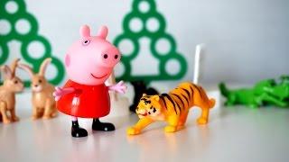 Свинка Пеппа в зоопарке. Видео с животными для детей