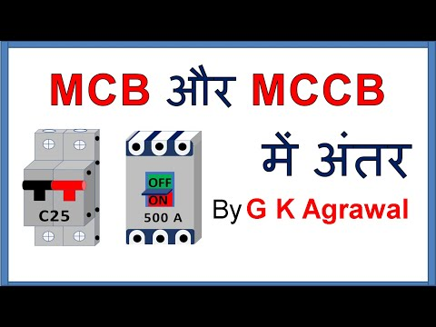 MCB & MCCB circuit breaker difference in Hindi thumbnail