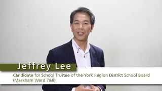 2014 Candidate for the York Region District School Board,Ontario, Canada