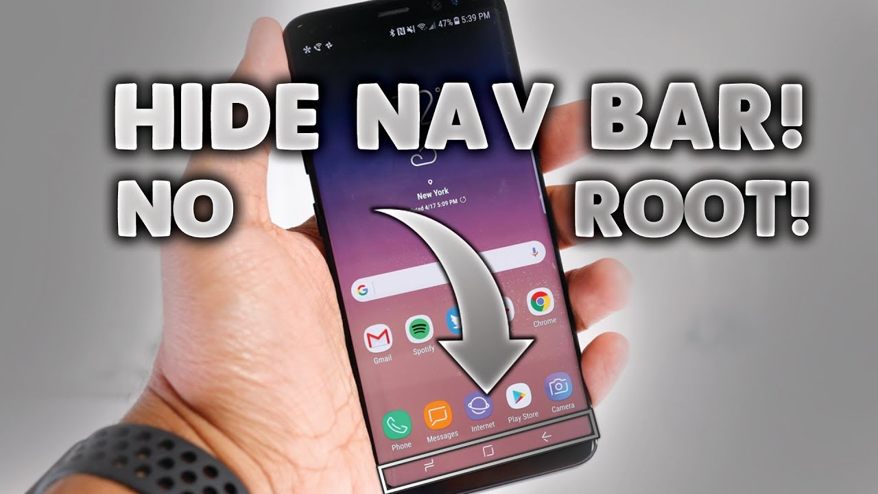How to HIDE NAV BAR on ANY ANDROID device *NO ROOT* 2017/2018