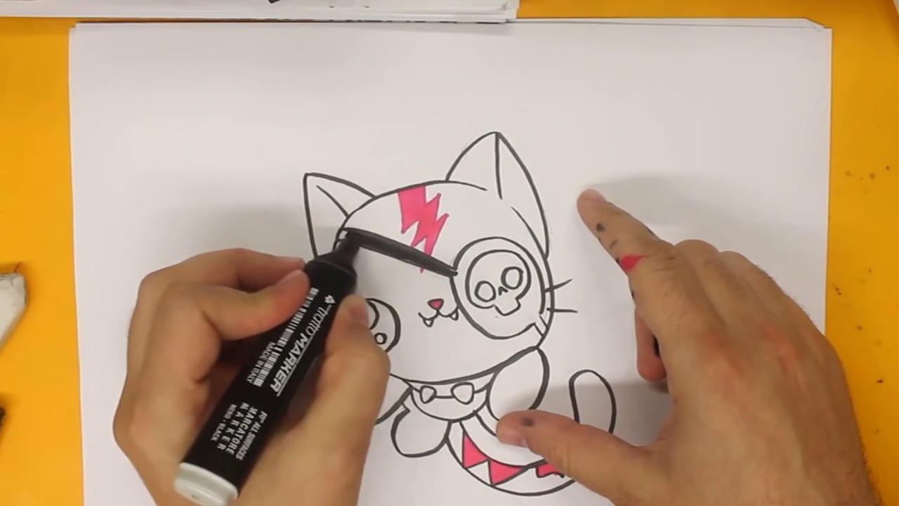 Comment dessiner un chat kawaii tape par tape dessins kawaii facile youtube - Chat facile a dessiner ...