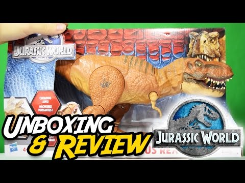 JURASSIC WORLD® | Stomp & Strike T. Rex | Unboxing & Review Hasbro® Tyrannosaurus