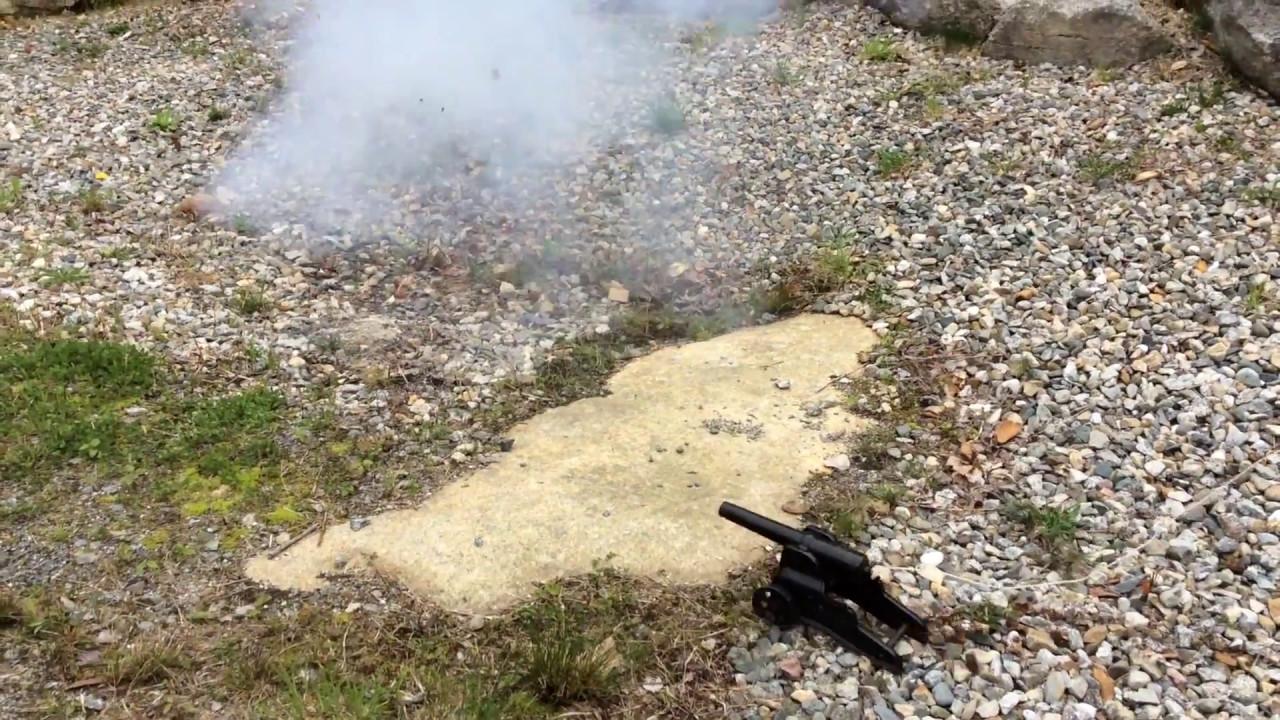 Firing a 10 Gauge Winchester Cannon