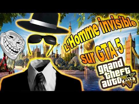 GTA5 - TROLL MOD MENU - L'HOMME INVISIBLE TROLL UN MEC RIGOLO XD