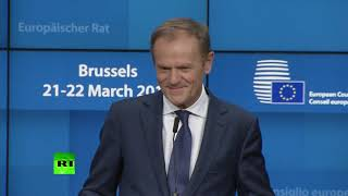 Still 'a lot of spaces in hell' – Tusk during Brexit press conference