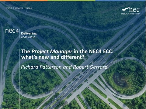 Webinar: The Project Manager in the NEC4 ECC - what's new and different?