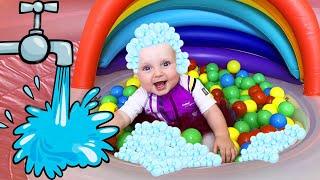 Five Kids Wash Song Nursery Rhymes & Children's Songs