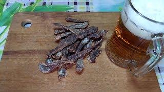 Вяленая говядина, закуска к пиву. Лучше чем чипсы.