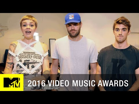 Backstage w/ The Chainsmokers | 2016 Video Music Awards | MTV