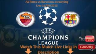 As roma vs fc barcelona streaming live ...