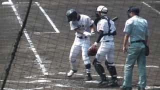 2013 夏の高校野球 大垣日大-有田工 2回表裏 両校の校歌も