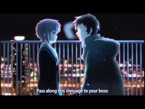 Yuki and Kyon  涼宮ハルヒの消失 english subs