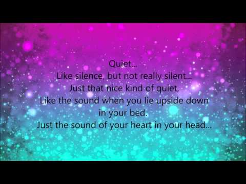 Quiet- matilda lyrics