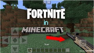 Getting FORTNITE Weapons in MINECRAFT!