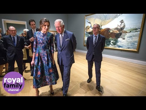 Prince Charles and Queen Letizia of Spain open National Gallery exhibition