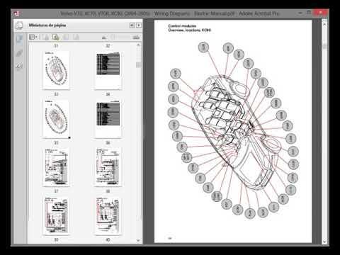 volvo v70 xc70 v70r xc90 20042005  wiring diagrams  electric manual