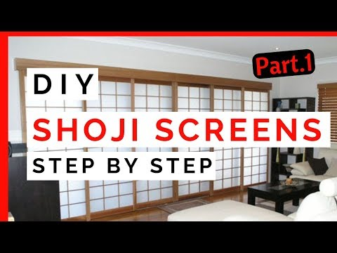 HOW A JAPANESE STYLE SHOJI SCREEN IS MADE PART 1