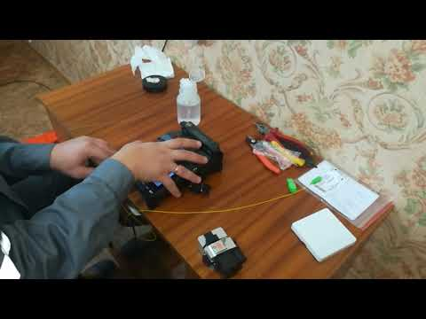 Монтаж оптической розетки