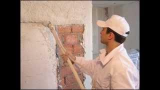 Гипсовая штукатурка машинным способом, Машинная штукатурка стен от розетки 220 вольт(, 2014-10-21T17:24:22.000Z)