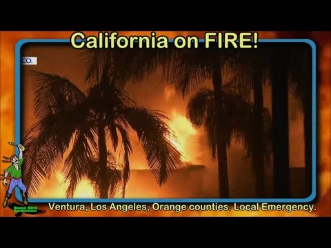 California on FIRE again. Winds getting worse. 2 More days of wind