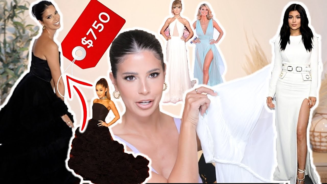 Download TRYING ON CELEBRITY DRESS REMAKES! I SPENT $750 ON