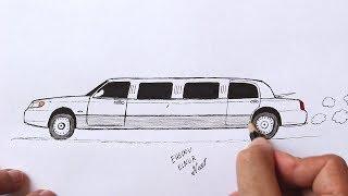 Как нарисовать Машину Лимузин легко