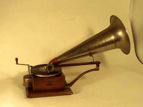 114 year old Berliner Gramophone playing record