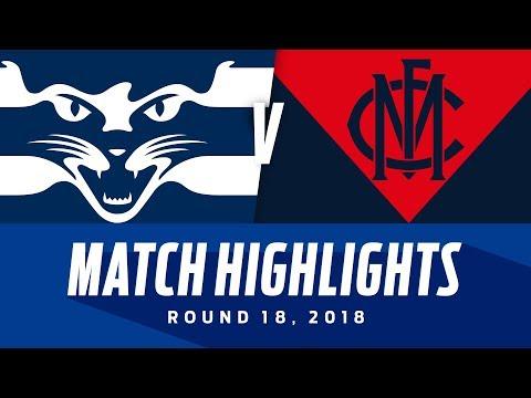 Geelong V Melbourne Match Highlights | Round 18, 2018 | AFL