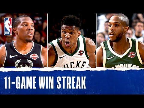 Best Of 11-Game Win Streak For Milwaukee Bucks