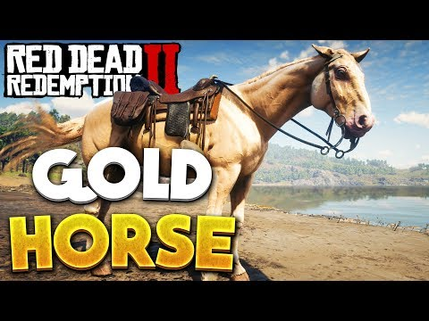Red Dead Redemption 2 Gold Rare Horse Location! RDR2 Best Horse