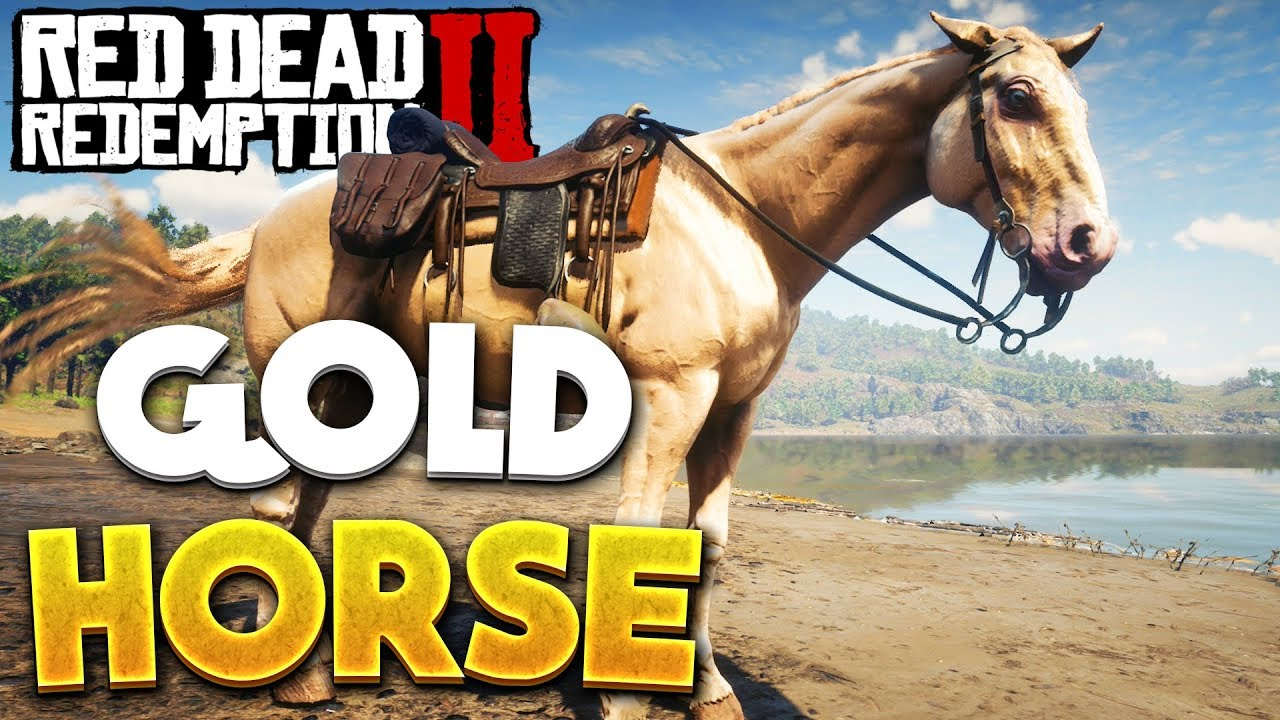 Red Dead Redemption 2 Gold Rare Horse Location Rdr2 Best Horse