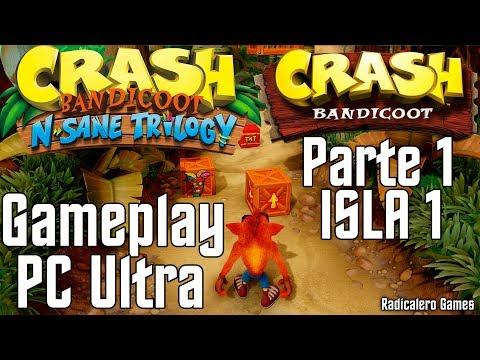 Crash Bandicoot 1 N. Sane Trilogy PC 1080p 60fps Parte 1 Isla 1 Guia Gameplay GTX 1080ti Walkthrough