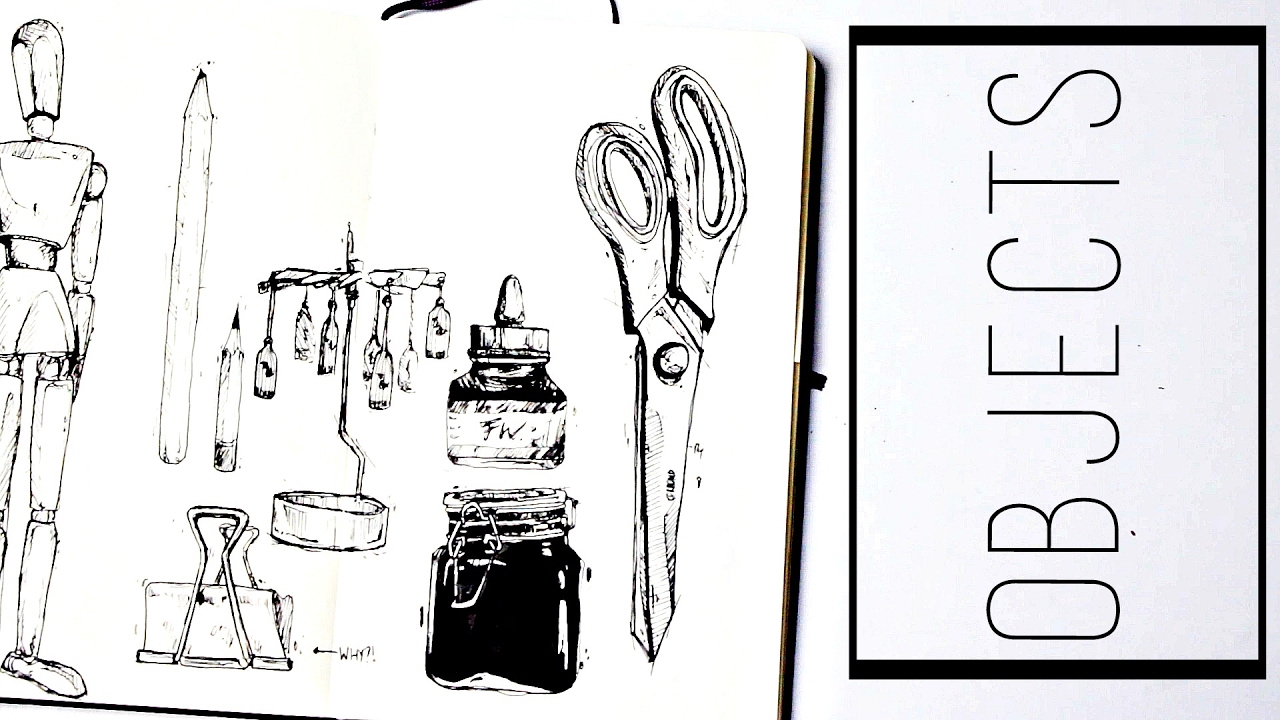 Drawing Objects 30 Ways To Fill A Sketchbook Semiskimmedmin