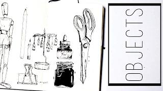 Drawing Objects · 30 Ways to Fill a Sketchbook · SemiSkimmedMin