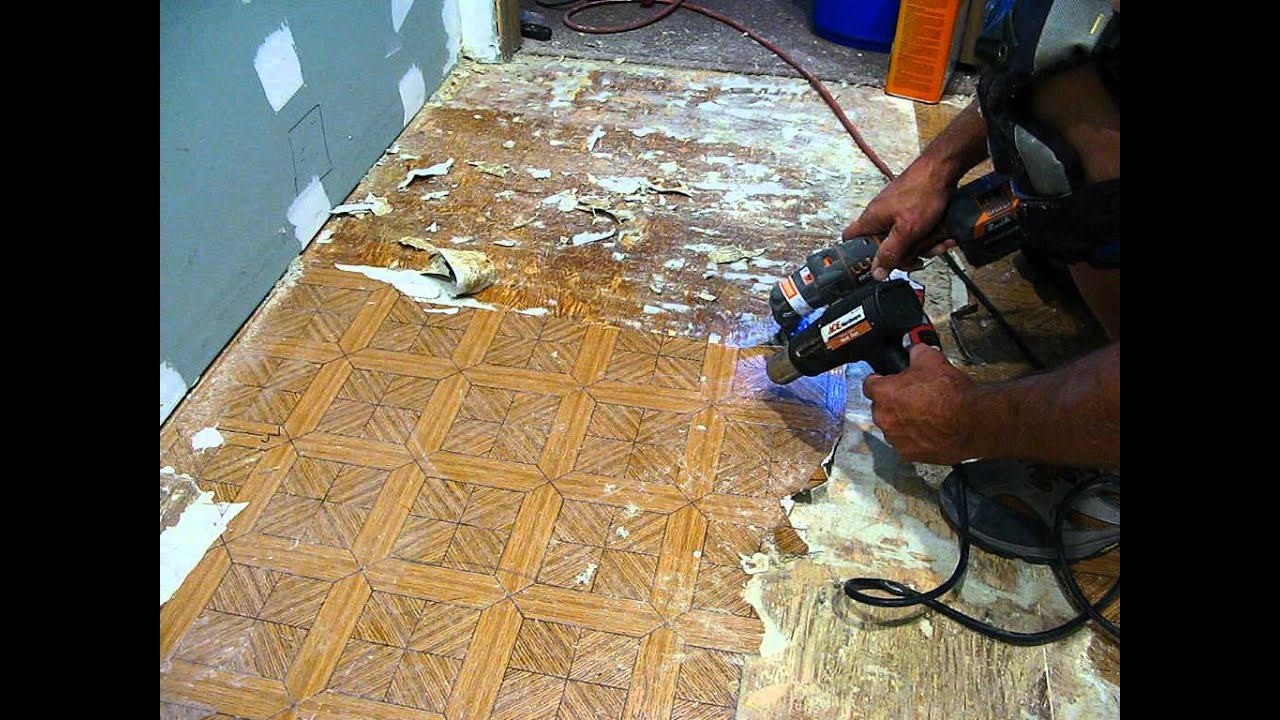 Taking linoleum off a wood floor youtube dailygadgetfo Images