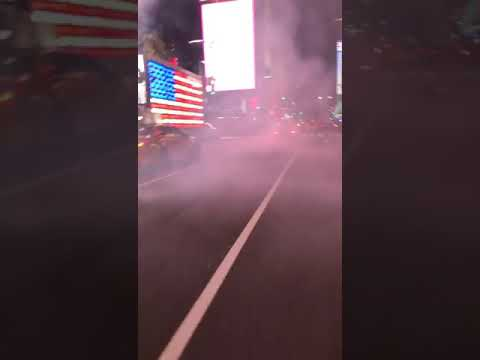 Car chase in time square