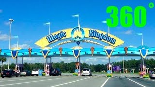 Driving into Magic Kingdom 360˚ 4K Walt Disney World