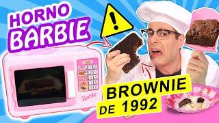 COCINO BROWNIE DE 1992 EN HORNO DE JUGUETE BARBIE   Curiosidades con Mike