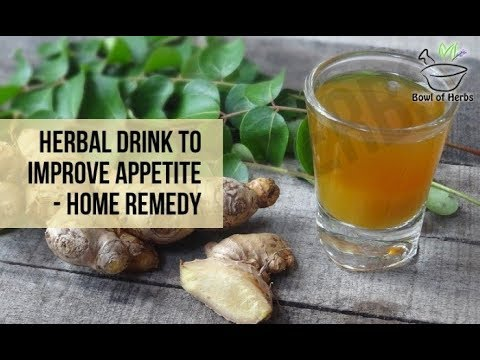 Curry leaves and ginger to cure loss of appetite - Herbal remedy