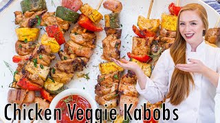 Chicken Veggie Kabobs