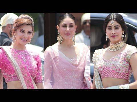 Kareena Kapoor, Jacqueline Fernandez, Jhanvi Kapoor At Sonam Kapoor Wedding thumbnail