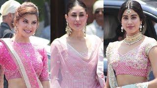 Kareena Kapoor, Jacqueline Fernandez, Jhanvi Kapoor At Sonam Kapoor Wedding