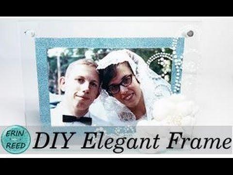 DIY 50th Wedding Anniversary Altered Elegant Frame - YouTube